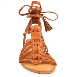 NWT Madden Girl Brown Lace Up Gladiator Sandals
